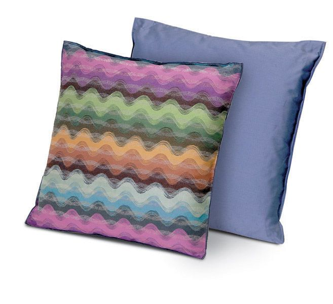Chic waves and pretty purple are a great combo in these pillows from MissoniHome.