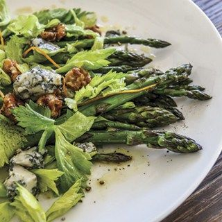 Try our delicious Grilled asparagus with sticky walnuts, celery leaves, blue cheese and orange dressing recipe. Your Local Fruit Shop has always got the very best fresh seasonal produce. Find a store near you today.