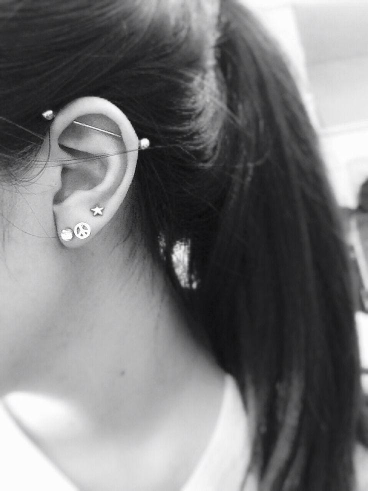 Best 25+ Ear piercings industrial ideas on Pinterest | Bar ...