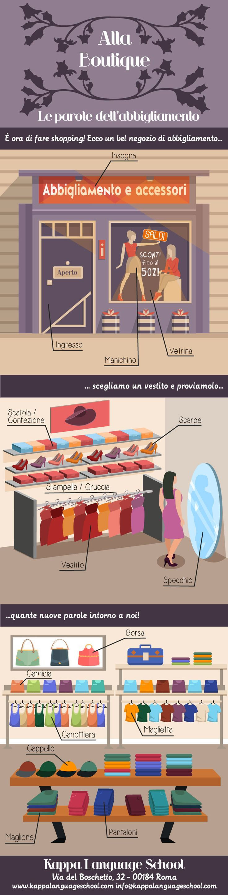 learn italian words about shopping with our infographic