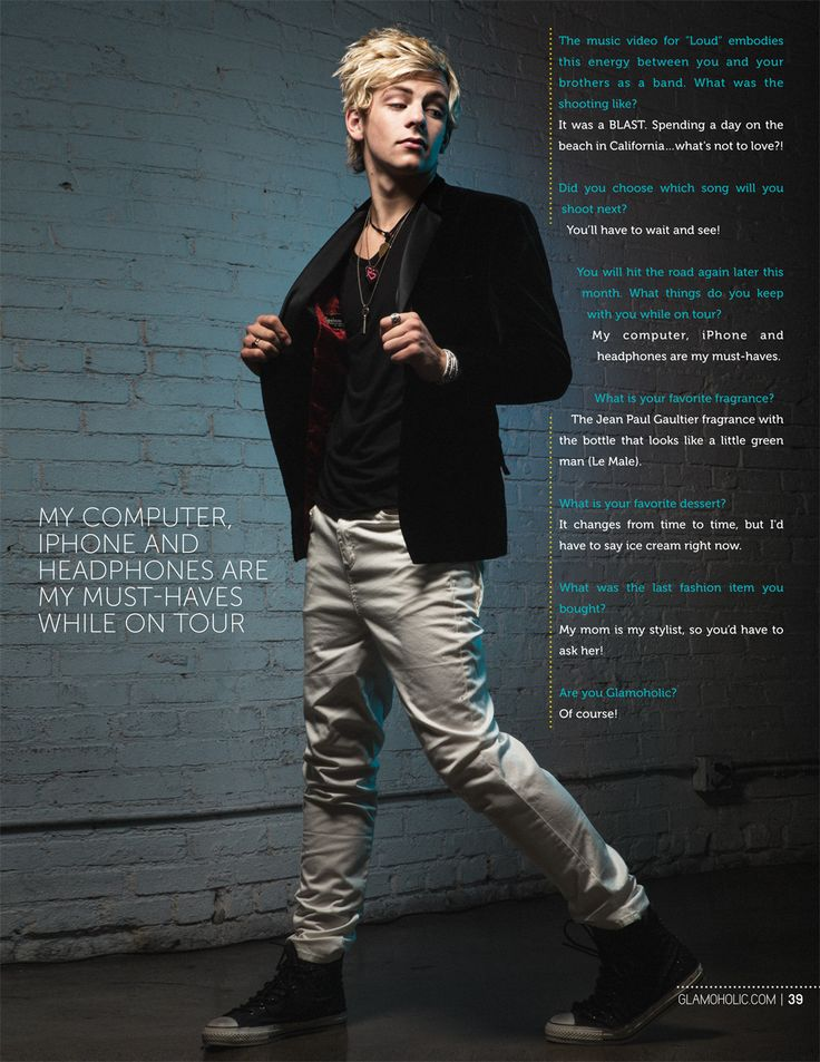 Loved Ross Lynch since the beginning and now he's featured in Glamoholic! Yay Ross!