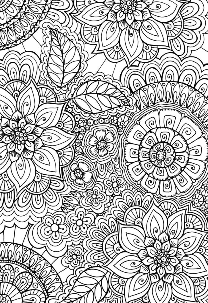 Cindy Wilde - 60's Patern  Colouring Page                              …