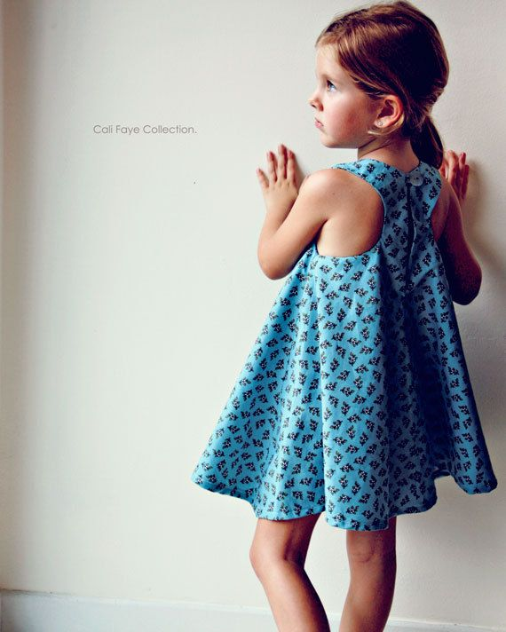 Racerback Flare Dress PDF pattern and tutorial - sizes 2t - 10, childrens sewing PATTERN.