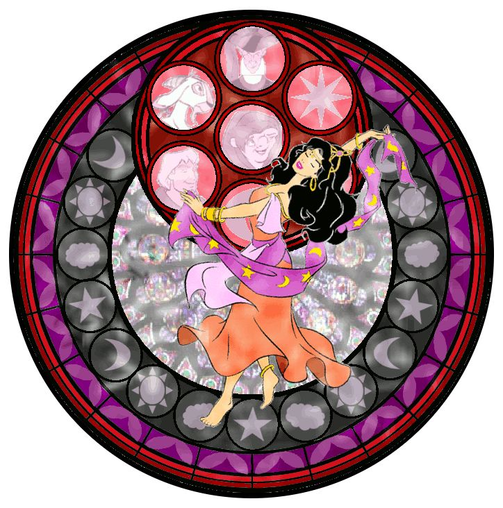 Esmeralda Stained Glass - disney-princess Fan Art