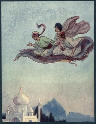 The Arabian nights (1900)  Illustrations by Soper    The Princess and the magic carpet