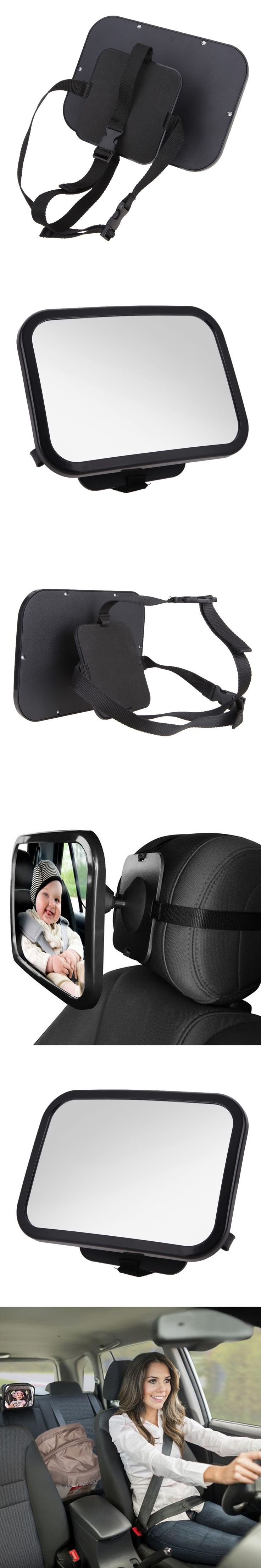 Hot selll adjustable wide view  rear /baby/child seat car safety mirror  headrest Mount Wide View for Cars