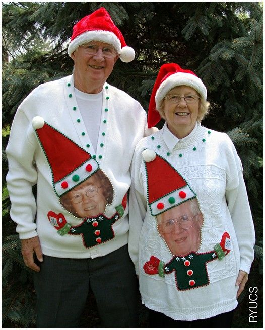 hahahah so funny for an ugly christmas sweater party, Jacob and I will do this! it is just a matter of when and where!