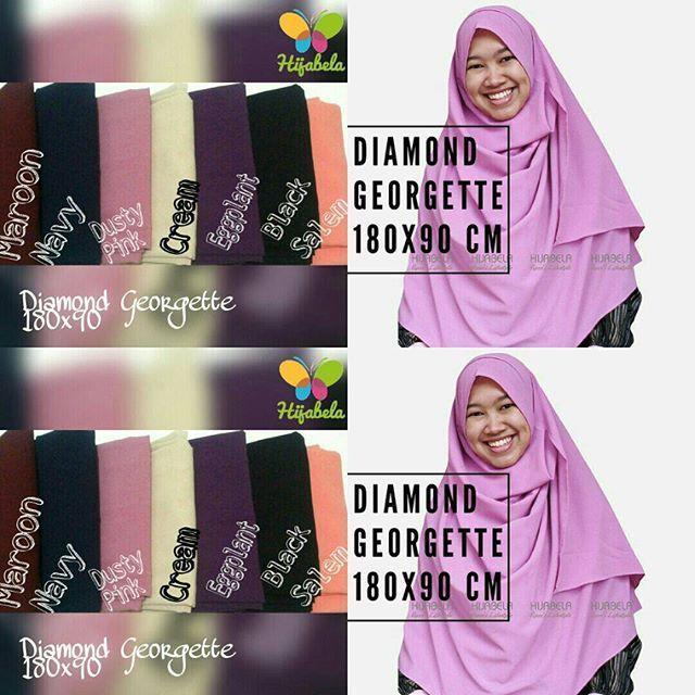 Ready Stock Update !  #pashminainstan diamond georgette ini membuat pemakainya terlihat elegan  Karena bahan stretchnya bikin pas dengan wajah dan jatuh saat dipakai  Dengan ukuran yg lebih panjang, #pashminadiamondgeorgette ini makin terlihat cantik :) #recomended deh!  Order bisa via Line@ link di bio atau WA 081298069833  #pashminainstant #pashminaterbaru2016 #hijabpashmina #hijabhitsindo #hijabkekinian