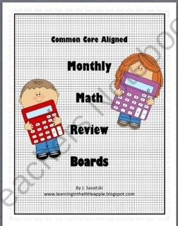 Common Core Aligned Math Review Boards for Math Focus Wall from Learning in the Little Apple on TeachersNotebook.com (22 pages)  - Common Core Aligned Math Review Boards for Math Focus Walls enables educators to review tested math skills daily in a fun and engaging format!