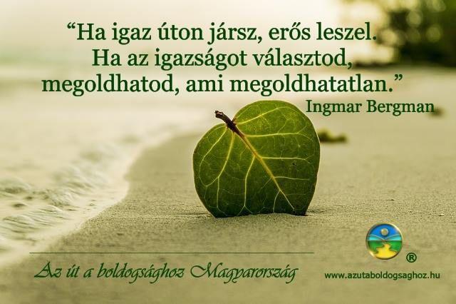 Ingmar Bergman idézete az igazságról. A kép forrása: Az Út a Boldogsághoz Magyarország # Facebook