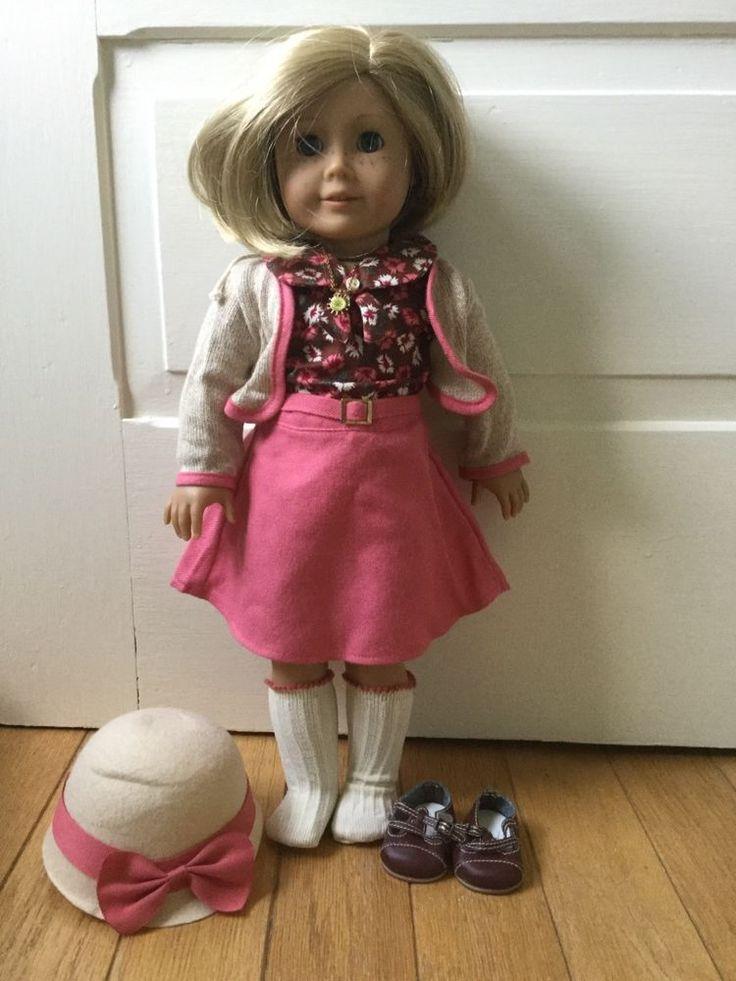 American Girl Doll Kit Kitteredge in School Skirt Outfit #AmericanGirl #DollswithClothingAccessories
