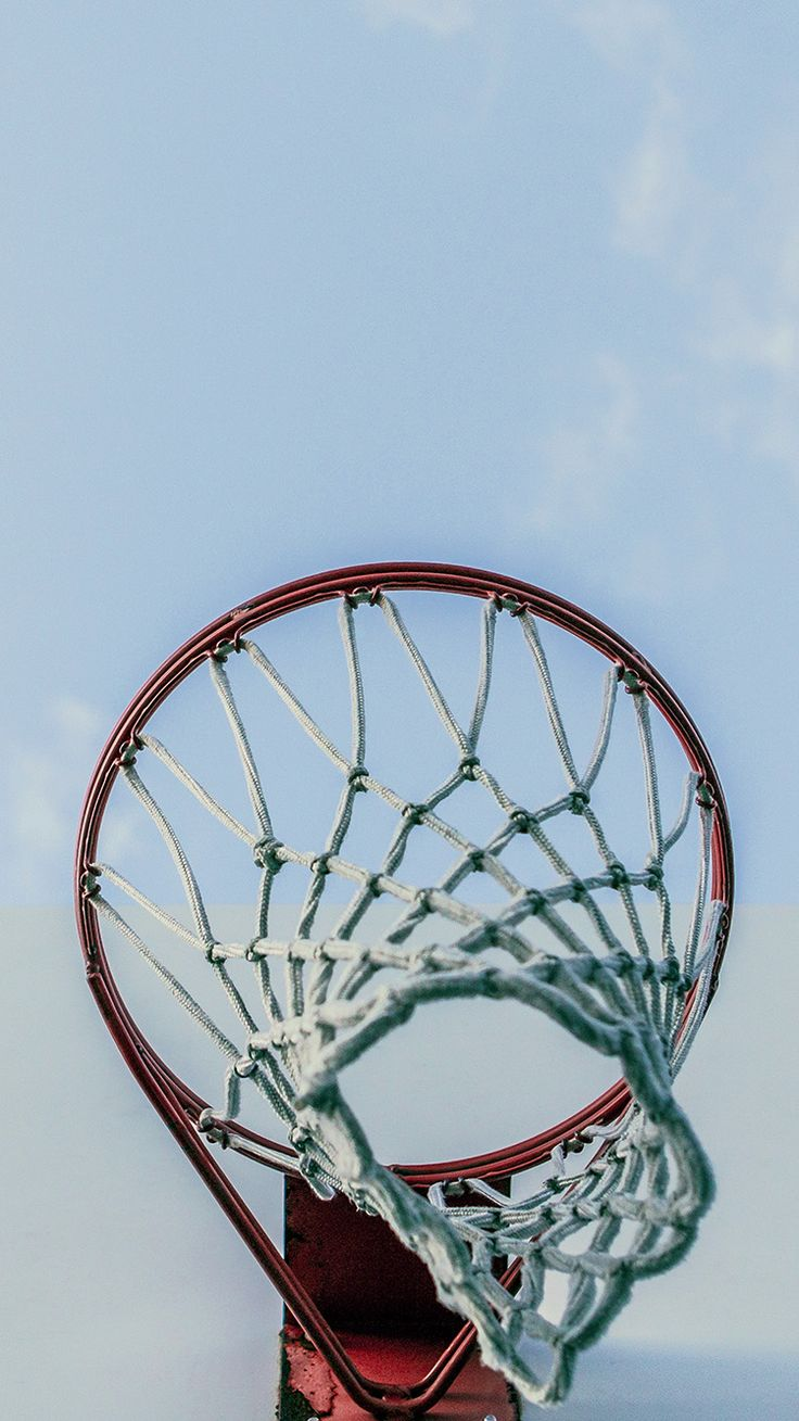 BASKETBALL RIM RED SPORTS WALLPAPER HD IPHONE