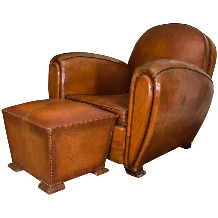French Round Back Leather Club Chairs | From a unique collection of antique and modern club chairs at https://www.1stdibs.com/furniture/seating/club-chairs/
