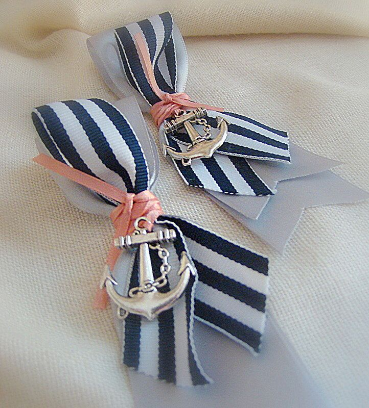 Nautical Boutonniere,Wedding Boutonniere, Ship's Wheel Boutonniere, Anchor Boutonniere, Nautical Wedding, Beach Wedding, Beach Boutonniere by EuphorbiaFloral on Etsy https://www.etsy.com/listing/153317557/nautical-boutonnierewedding-boutonniere