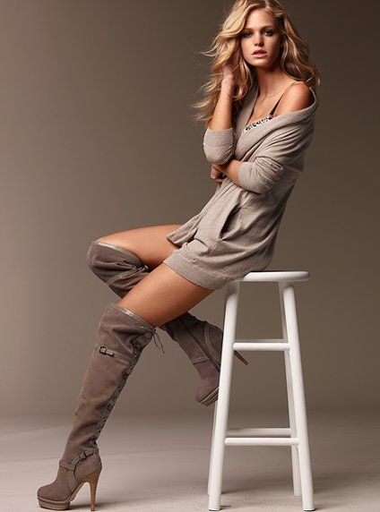 boots: Shoes, Outfits, Colin Stuart, Girls Poses, Knee High Boots, Platform Boots, Knee Boots, Erin Heatherton, Victoria Secret