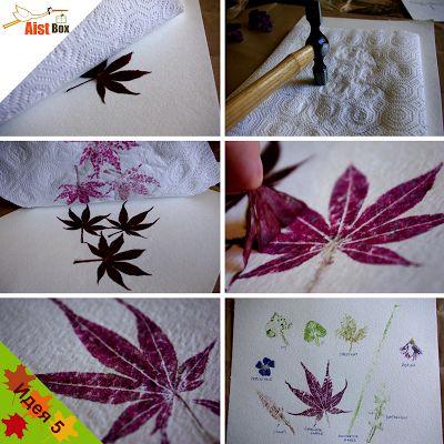 Сделайте с малышами яркие отпечатки листьев и цветов. Эта идея отлично подойдет как для открыток, так и для создания картин.