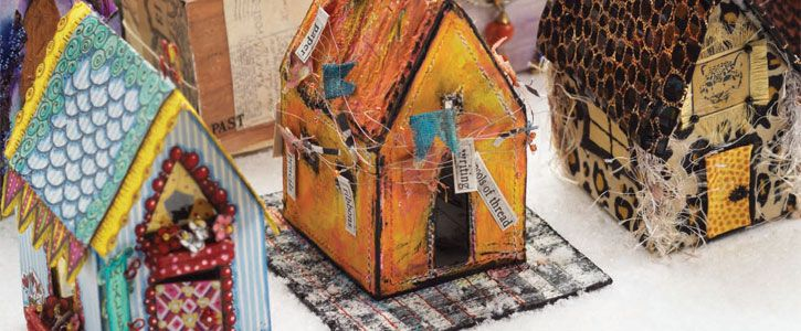 How to make mixed-media houses - Great tips on finding ways to build and decorate all sorts of house crafts.