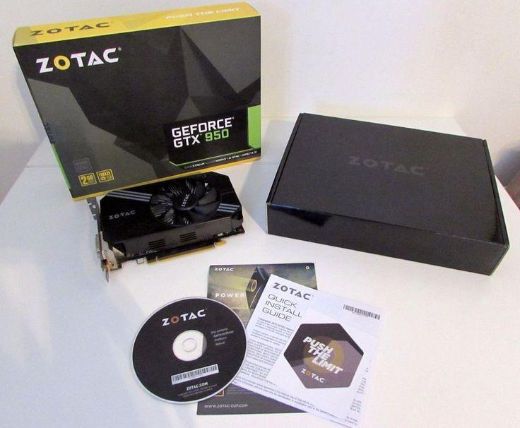 Zotac Geforce GTX 950 Computer Graphics Card 2GB GDDR5 128 Bit HD Gaming EUC #ZOTAC