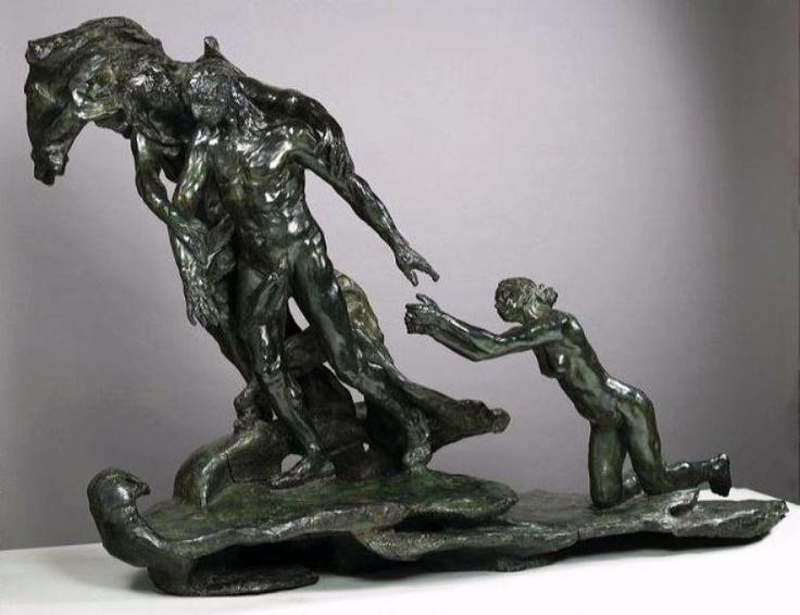 Camille Claudel - L'Âge mûr, c. 1893-1899. Bronze, 114 x 163 x 72 cm. Musée Rodin, Paris, France: 163, 114, Camille Claudel, August Rodin, Claudel 1864, Camil Claudel, Lage Mur, Lâge, Camil Abandoned