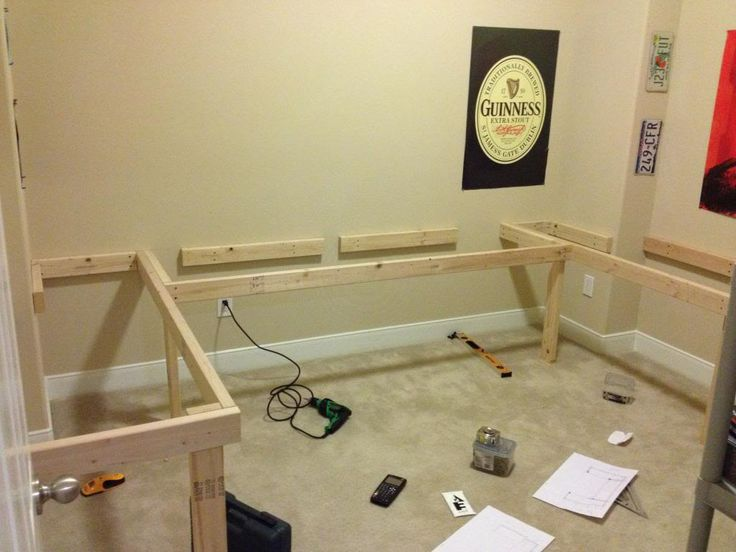 Diy floating desk l shape re show your diy ideas and Diy home office desk plans