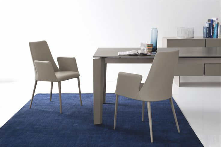 calligaris amelie dining chair stylish and available in fabric and leather calligaris dining chairs pinterest