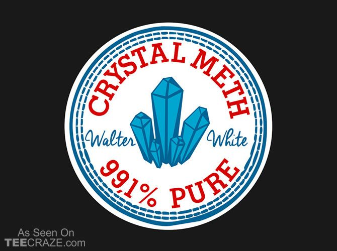 Crystal Meth Converse T-Shirt - http://teecraze.com/crystal-meth-converse-t-shirt/ - Designed by Melonseta