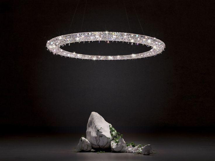 LOOOP Crystal pendant lamp by Manooi #crystalchandelier #lightingdesign #interior #chandelier #coollamps #luxury #Manooi