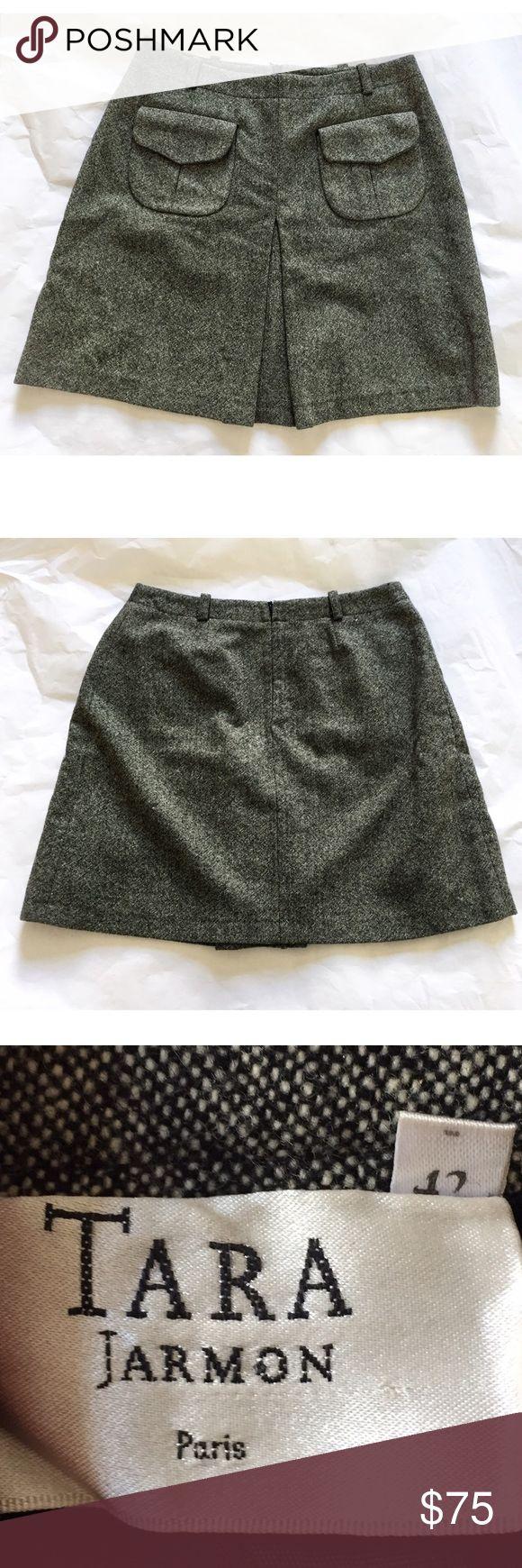 "Tara Jarmon Wool Skirt Tara Jarmon tweed skirt. In wool/mohair mix. French size 42. Length about 17.5"" waist about 14.75 per side.  Made in France. Tara Jarmon Skirts"