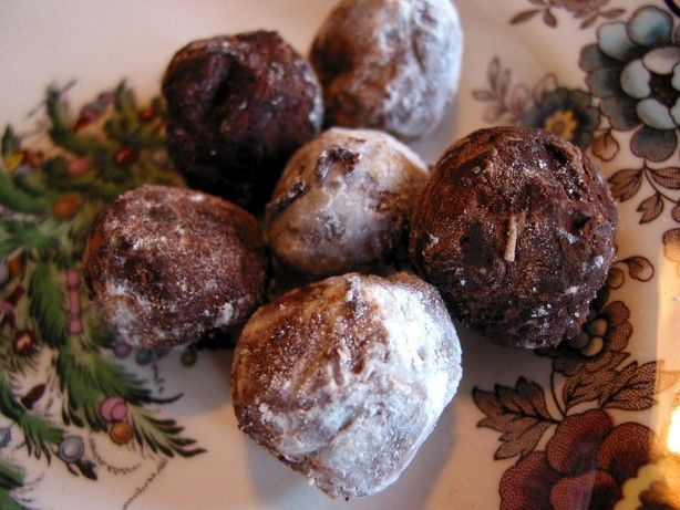 the basic easy chocolate truffle, no eggs, no dairy, no extra flavors or fancy coatings