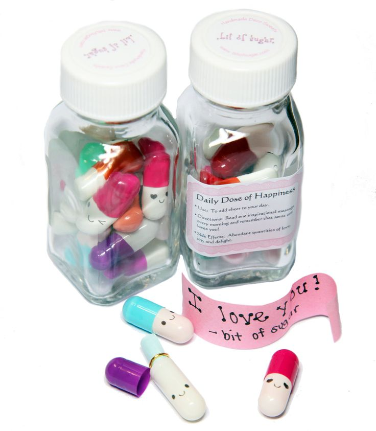 Message Pills - 2 Week Supply - Cute Kawaii Letter Capsule, message in a bottle gift. $12.50, via Etsy.