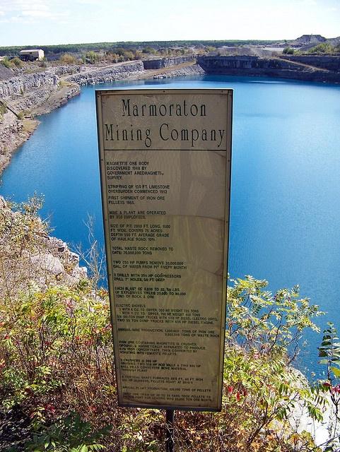 Old Marmoraton Mining Company sign
