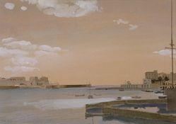 ΤΣΑΡΟΥΧΗΣ Γιάννης (1910-1989)  Το λιμάνι της Ζέας (1964)
