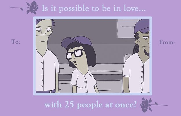 "7 Valentine's Day Cards Inspired By Tina From ""Bob's Burgers"" Love this show."