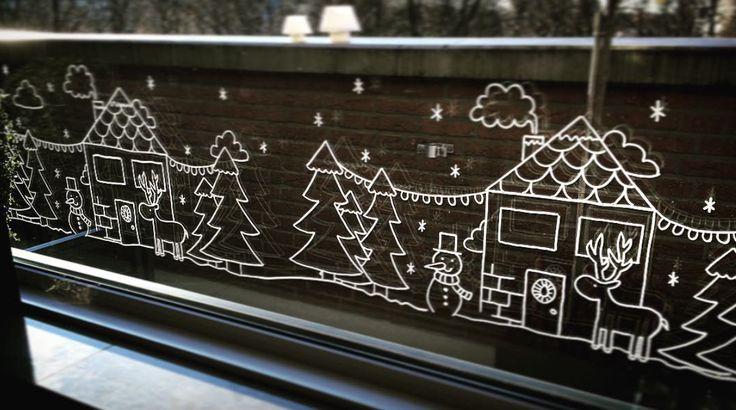 Winter wonderland #raamtekening door Wendy V.