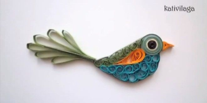 Créer un magnifique il oiseau avec la technique du quilling | DIY TUTO