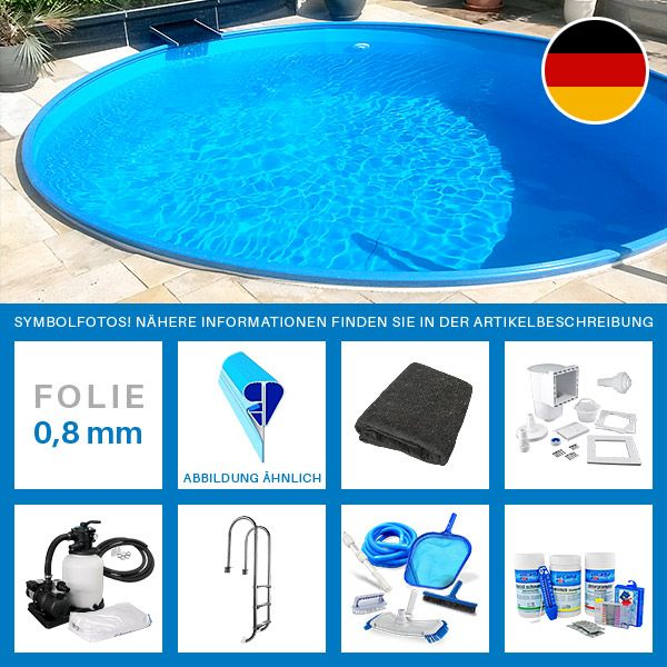 Rundpool-Set PLUS 3,50 x 1,20 m Folie 0,8 mm Vor allem an heißen Sommertagen gibt es nichts Besseres als sich in einem Pool abzukühlen. Mit einem Swimmingpool im eigenen Garten holen Sie das Urlaubsfeeling zu sich...