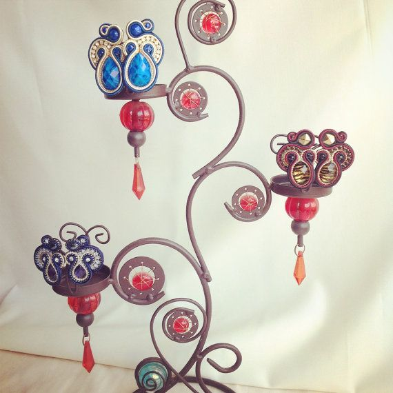Original Soutache Earrings, Swirl Design Custom made by Little Venice Designs / Great Price. Hypoallergenic