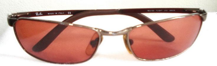 RAY BAN RB3190 flight 58-18 Sunglasses Copper Rec G15 flex Brown lens Unisex vtg