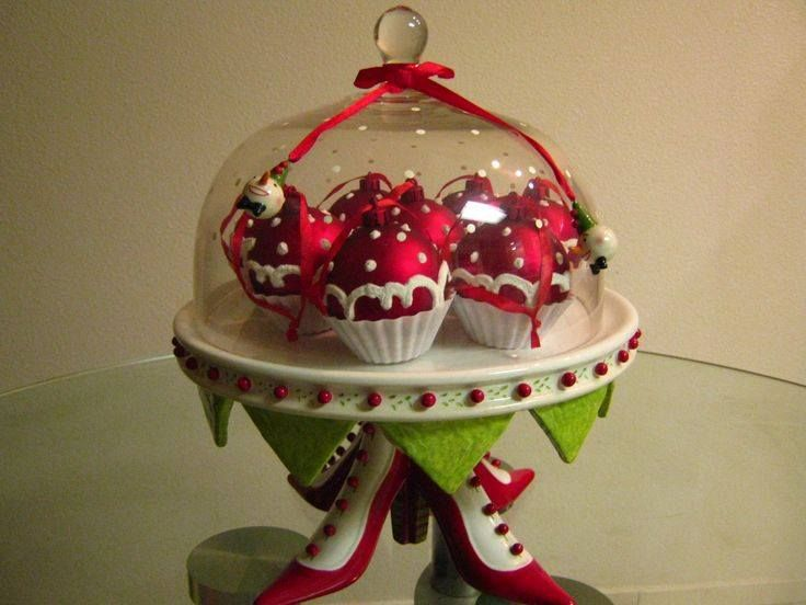 hand painted Christmas serving dish UK seller cupcake stand Silver snowflakes cake stand Christmas gift