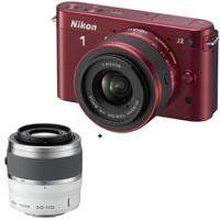 Nikon 1 J2 Mirrorless Camera with 10-30mm (2.7x) Lens, Red - Bundle - with Nikon 1 Nikkor 30-110mm f/3.8-5.6 VR Lens - White by Nikon. $696.95. The Nikon 1 J2 is the second generation of Nikon's interchangeable-lens compact camera system, and while it generally carries a specsheet similar to that of its predecessor, the Nikon 1 J1, the J2 offers intriguing new features that put special effects and more sophisticated but intuitive controls in the hands of snapsh...