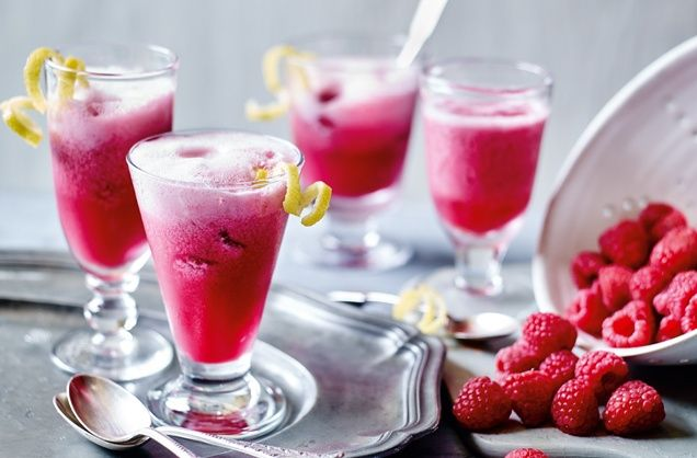 Swapping lemon for delicate raspberries makes a refreshing change to this traditional Italian sgroppino. Head to Tesco Real Food for more cocktail recipes.