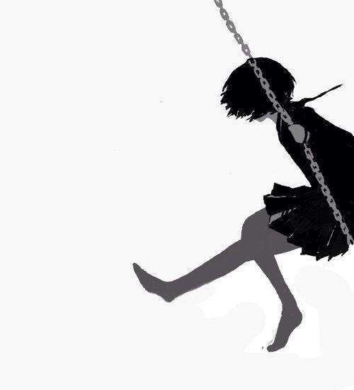 Image via We Heart It #adorable #anime #art #aw #b&w #bandw #barefoot…