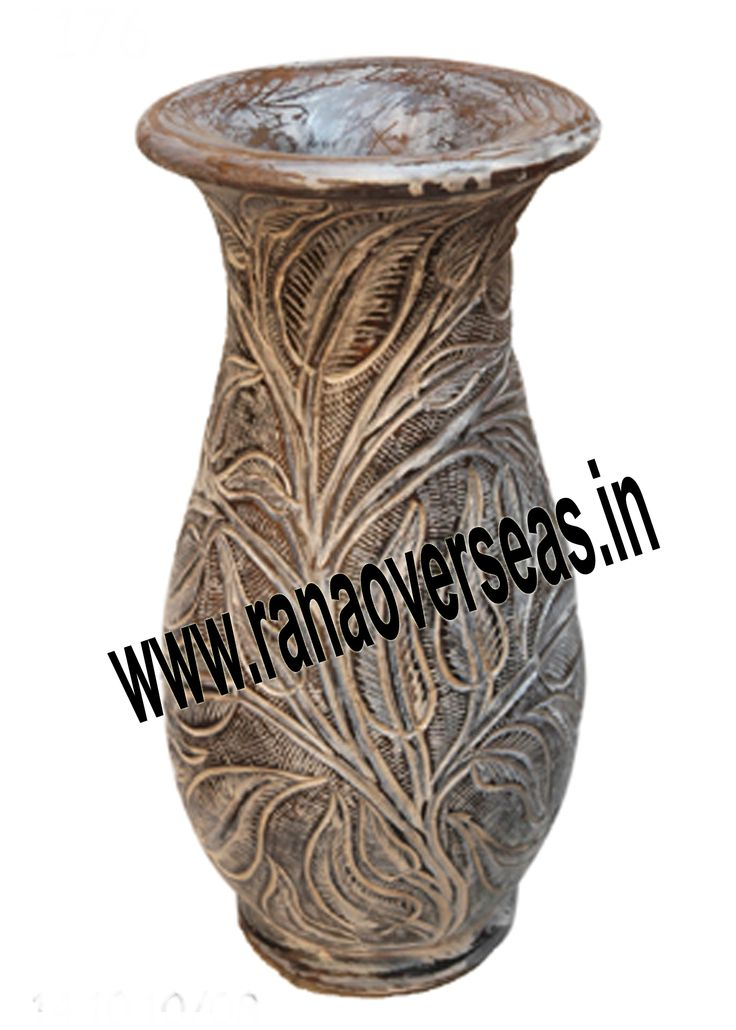 the traditional as well as modern designs. Wooden Flower vases are designed in styles ranging from exquisite to outrageous ones. These Flower vases chiseled out of variety of materials in varied shapes are extremely eye-catching with their compelling beauty. The Wooden flower pot base is made heavy to provide support to its body. Our flower pots have gained immense popularity worldwide. Wooden Flower pots are available in a variety of sizes,