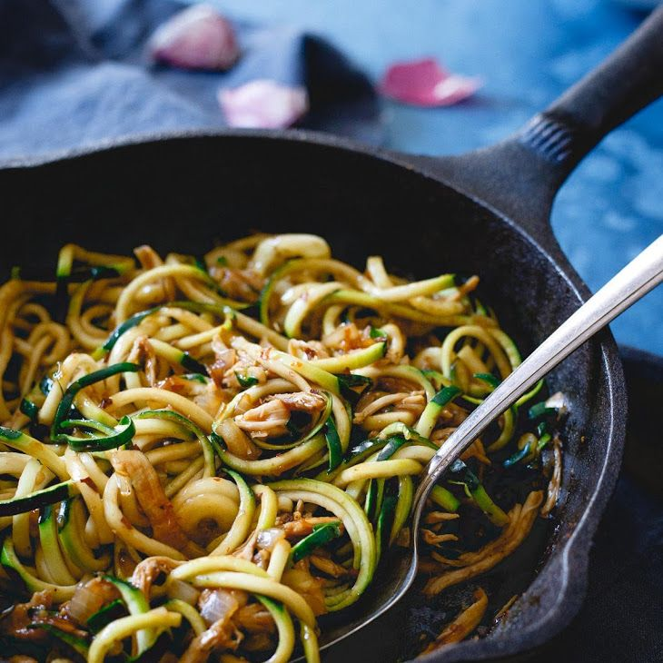 Chinese Chicken Zoodles Recipe Yummly Recipe Zoodle Recipes Zoodle Recipes Chicken Chinese Chicken