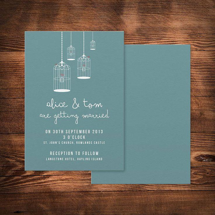 birdcage wedding invitation by paperhappy   notonthehighstreet.com