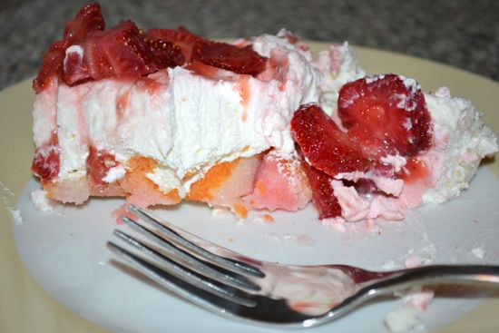 Strawberry Angel Food Dessert | Yum | Pinterest