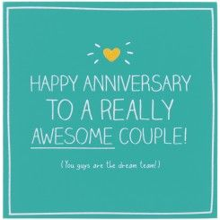 Happy Anniversary To A Really Awesome Couple Card