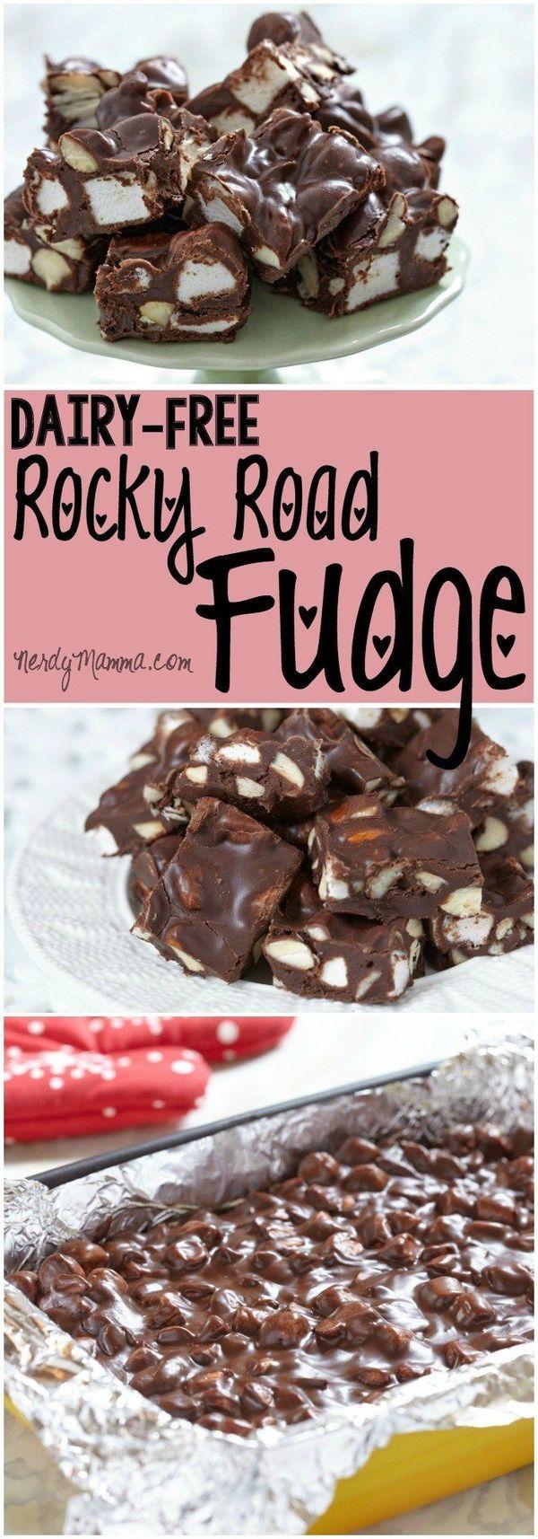 Dairy-Free Rocky Road Fudge