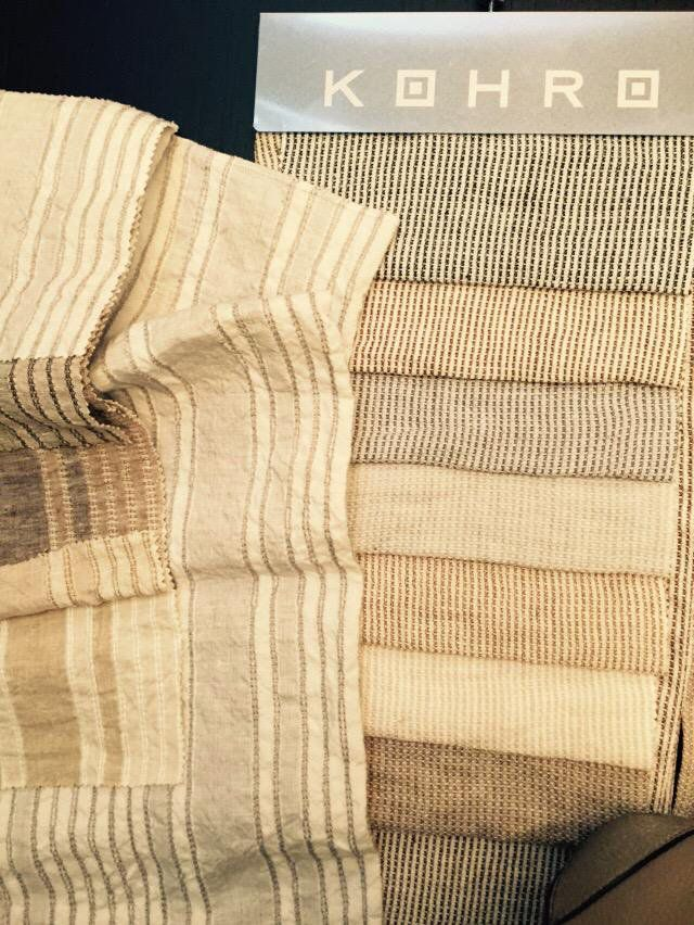Check out these beautiful linens @KOHRO_interiors named after women of Ancient Rome @salonedelmobile #LuxuriousFabrics @DesignerInteriors