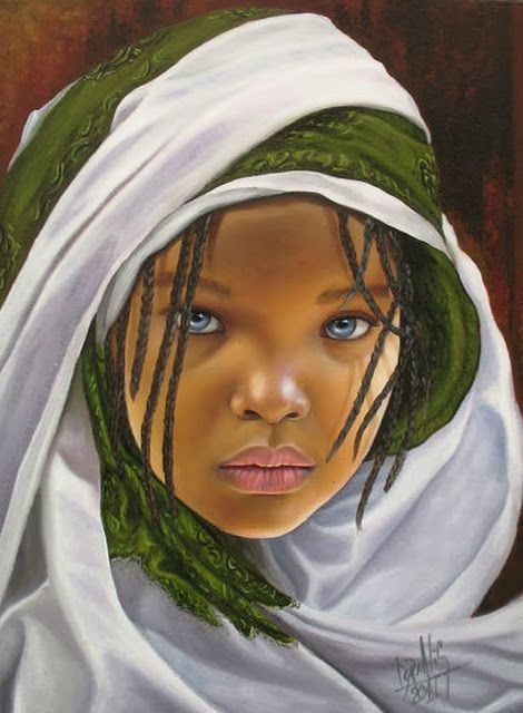 Cuadros Modernos Pinturas : Cuadros de Negras Africanas al Óleo                                                                                                                                                     Más